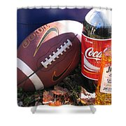 Jim Beam Coke And Football Shower Curtain