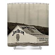 Jim Beam - D008291-bw Shower Curtain