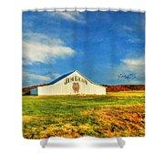 Jim Beam Shower Curtain