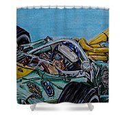 Jim Clark Indy 500 Shower Curtain