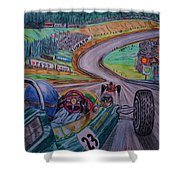 Jim Clark The King Of Spa Shower Curtain
