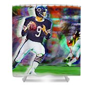 Jim Mcmahon With Walter Payton Chicago Bears Shower Curtain