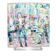 Jim Morrison And The Doors Live Concert In The Street Shower Curtain
