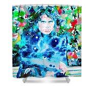Jim Morrison Watercolor Portrait.3 Shower Curtain
