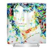 Jim Morrison Watercolor Portrait.5 Shower Curtain