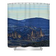 Jim Mountain Lava Field   #9037 Shower Curtain