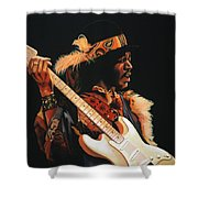 Jimi Hendrix 3 Shower Curtain