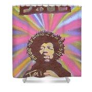 Jimi Hendrix Pastel Shower Curtain