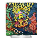 Jimi Hendrix Rainbow Bridge Shower Curtain
