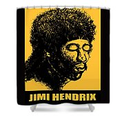 Jimi Hendrix Rock Music Poster Shower Curtain