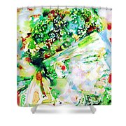 Jimi Hendrix  - Watercolor Portrait.4 Shower Curtain