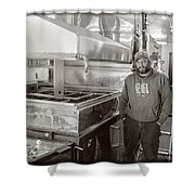 Jimmy At Mt Cube Sugar Farm Shower Curtain by Edward Fielding