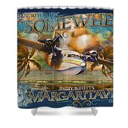 Jimmy Buffett's Hemisphere Dancer Shower Curtain