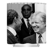 Jimmy Carter And Anwar Sadat 1980 Shower Curtain