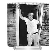 Jimmy Hoffa Interview Shower Curtain