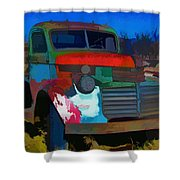 Jimmy In Taos - Abstract Shower Curtain