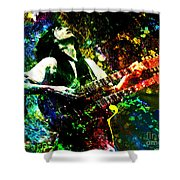 Jimmy Page - Led Zeppelin - Original Painting Print Shower Curtain