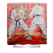 Jiyu Kumite Shower Curtain