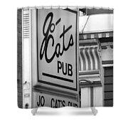 Jo Cats Pub Shower Curtain