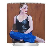 Jo In Chair Shower Curtain