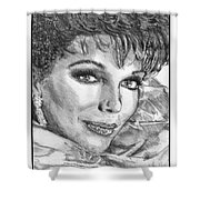 Joan Collins In 1985 Shower Curtain