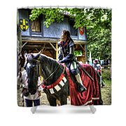 Joan Of Arc - A Woman Knight  In Armor Shower Curtain