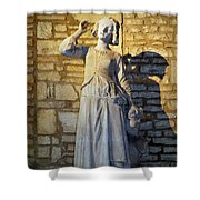 Joan Of Arc Hearing Voices By Francois Rude Shower Curtain