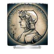 Joan Of Arc - Middle Ages Shower Curtain