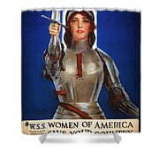 Joan Of Arc War Stamps Poster 1918 Shower Curtain