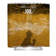 Job Books Of The Bible Series Old Testament Minimal Poster Art Number 18 Shower Curtain