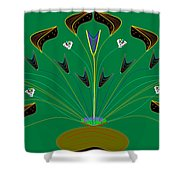 Jocelyn's Flower Shower Curtain