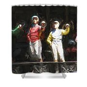 Jockeys In A Row Shower Curtain