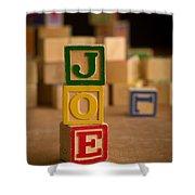 Joe - Alphabet Blocks Shower Curtain