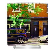 Joe Beef Liverpool House Notre Dame Little Burgundy Restaurant Montreal City Scene Carole Spandau Shower Curtain