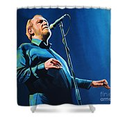 Joe Cocker Painting Shower Curtain