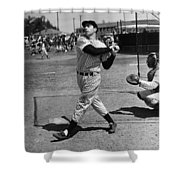 Joe Dimaggio Hits A Belter Shower Curtain