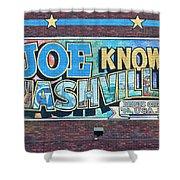 Joe Knows Nashville Shower Curtain