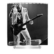 Joe Strummer At Clash Final Concert Shower Curtain