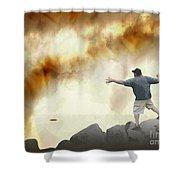 Joe Vs. The Volcano Shower Curtain