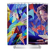 Joel And Andy Shower Curtain by Joshua Morton