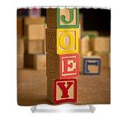 Joey - Alphabet Blocks Shower Curtain