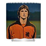 Johan Cruyff Oranje Shower Curtain