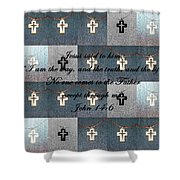 John 14 6 The Wooden Cross Shower Curtain