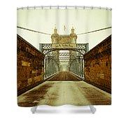 John A. Roebling Bridge Shower Curtain