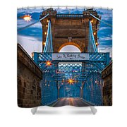 John A. Roebling Suspension Bridge Shower Curtain