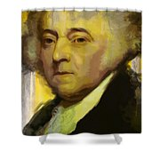John Adams Shower Curtain by Corporate Art Task Force