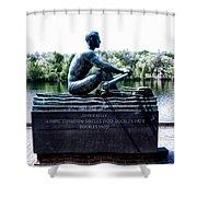 John B Kelly Statue Philadelphia Shower Curtain by Bill Cannon