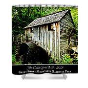 John Cable Grist Mill - Poster Shower Curtain