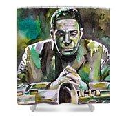 John Coltrane - Watercolor Portrait Shower Curtain