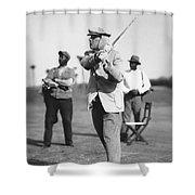 John D. Rockefeller Golfing Shower Curtain